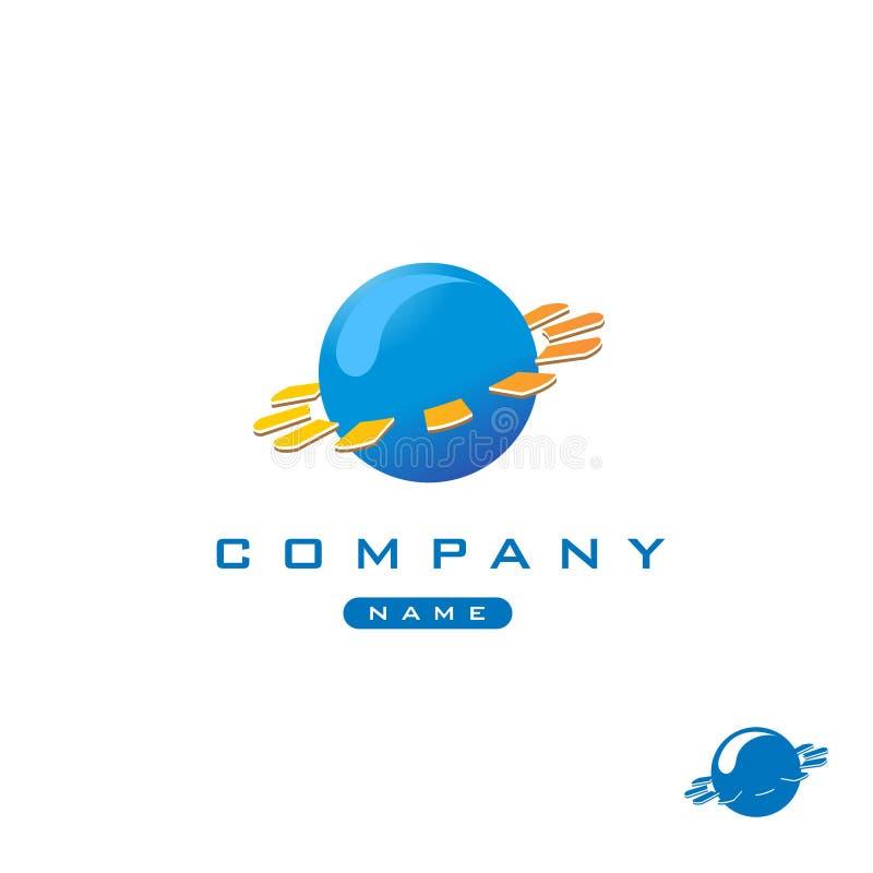 Tech globe logo vector illustration