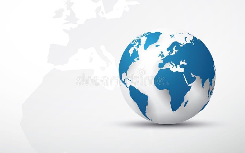 download blue earth globe world map background stock illustration illustration of america shape