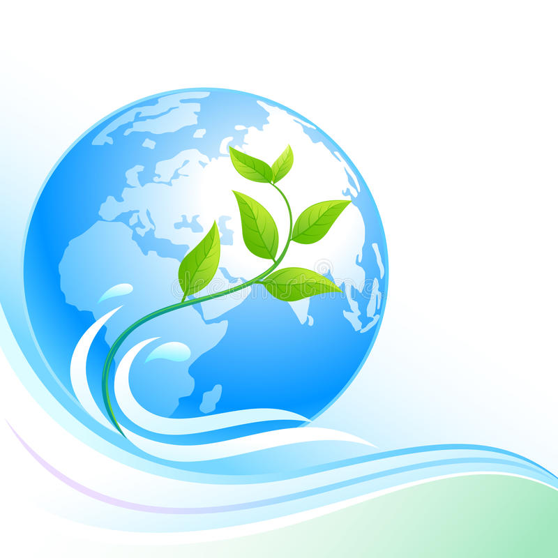 Blue Earth - Green Ecology vector illustration