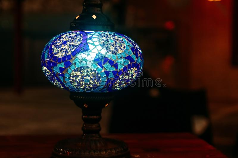 Blue East lamp stock photography