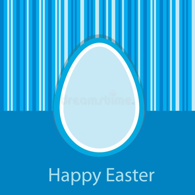 Blue Easter card royalty free illustration