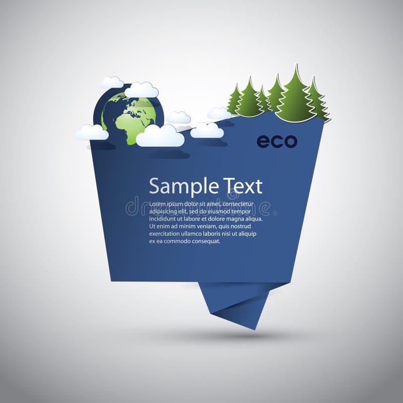 Blue Eco Speech Bubble stock illustration