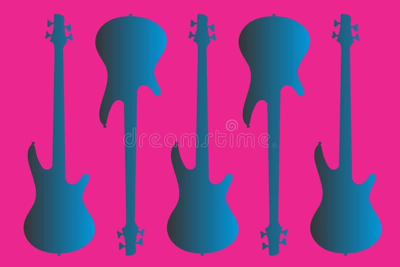 Blue Electric Guitar royalty free stock photos