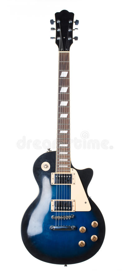 Blue electric guitar. royalty free stock images