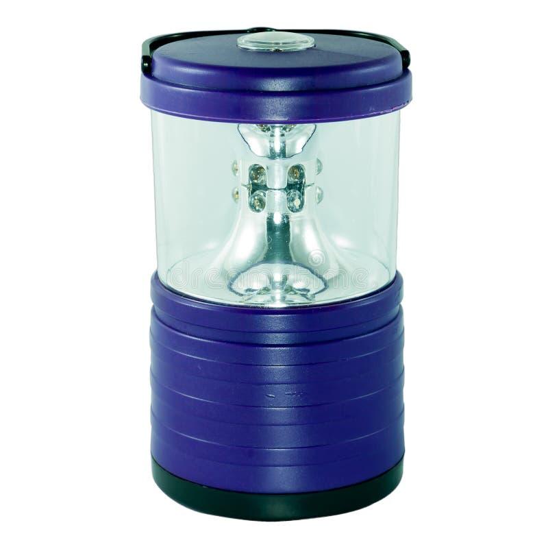 Blue electric lantern on white background royalty free stock image