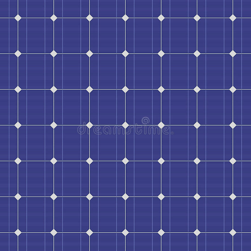 Blue electric solar panel seamless pattern. Vector stock illustration