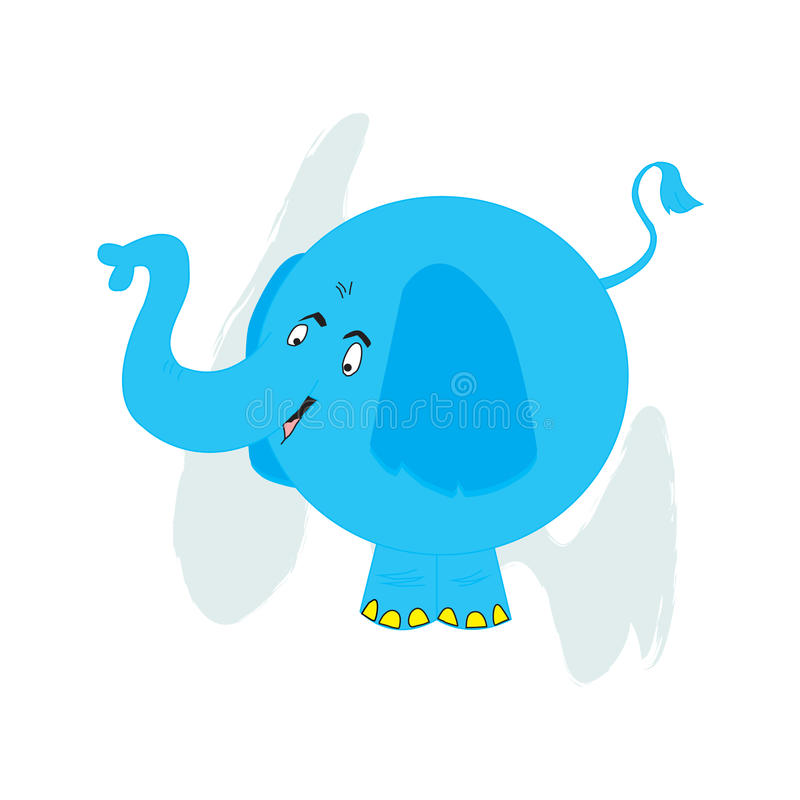 Download Blue Elephant stock vector. Illustration of design, character - 18398023