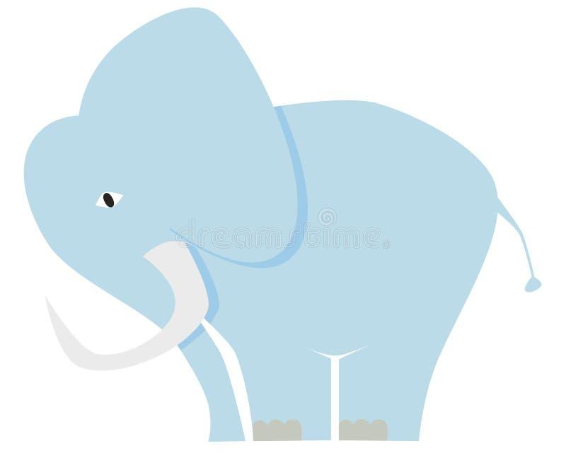 Blue elephant. On white background royalty free illustration
