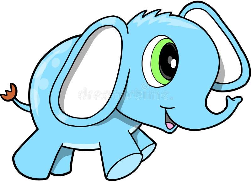 Blue Elephant Vector. Cute Safari Blue Elephant Vector royalty free illustration