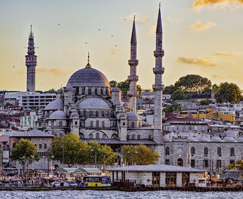 Blue eller Sultan Ahmed Mosque arkivbild