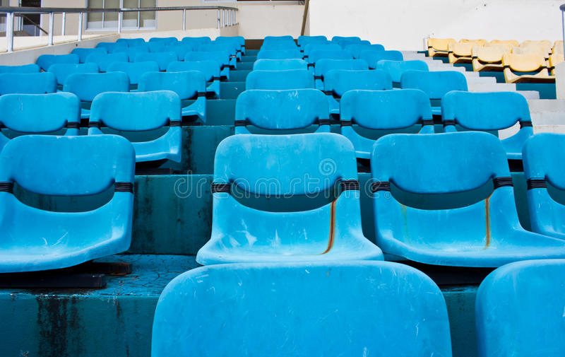 Download Blue Empty Stadium Royalty Free Stock Photography - Image: 33471097