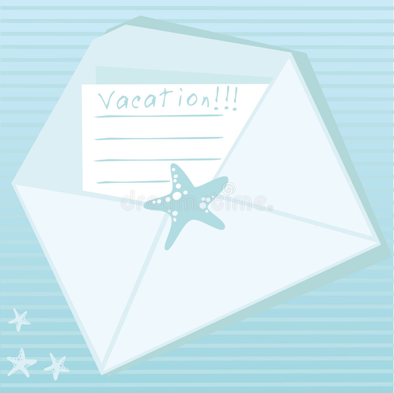 Blue envelope royalty free illustration