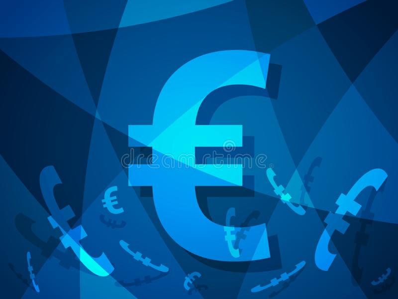 Euro abstract background with modern creative design with european money vector illustration