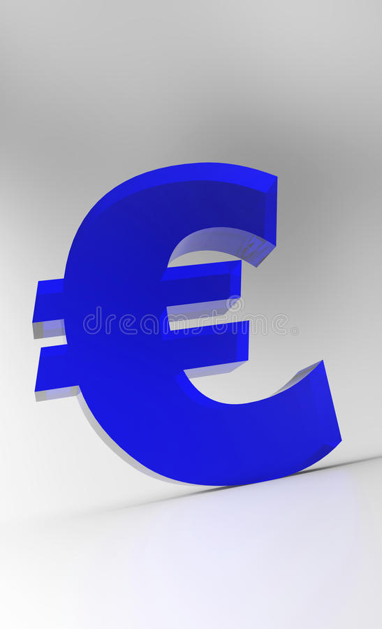Download Blue Euro sign stock image. Image of element, denominational - 32203645