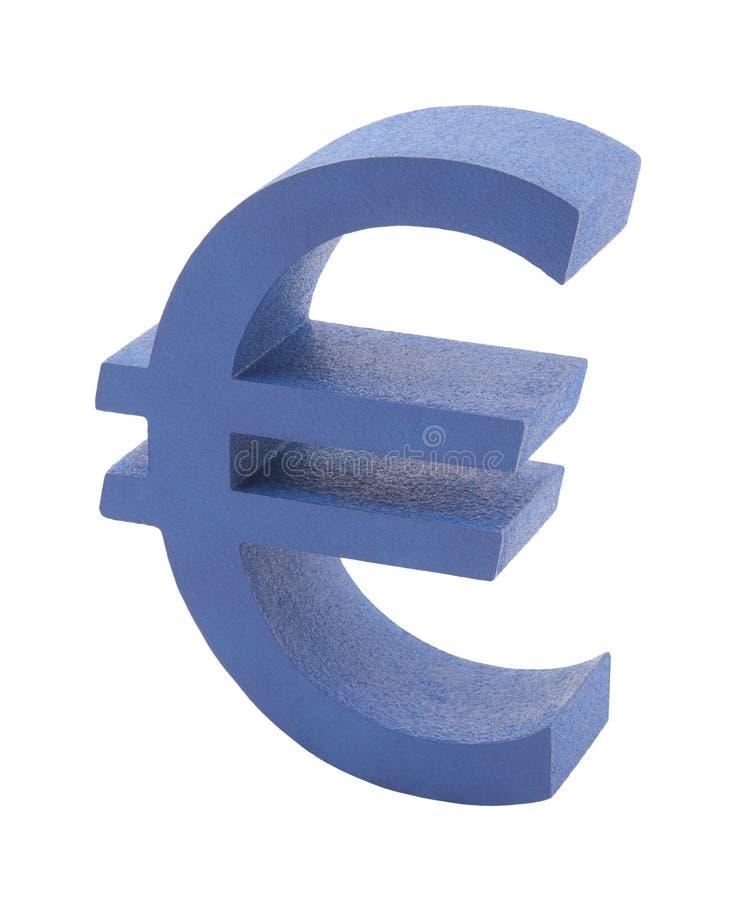 Blue Euro Symbol Stock Image