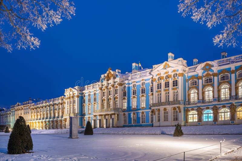Blue evening near the Catherine Palace royalty free stock photos