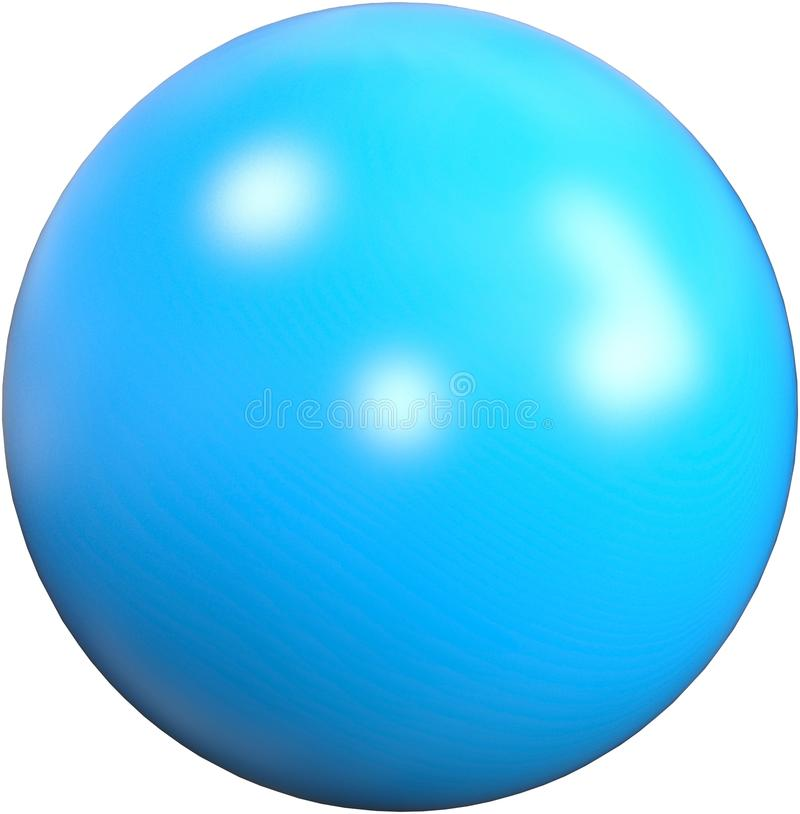 Blue Exercise Fitness Ball Isolated royalty free illustration