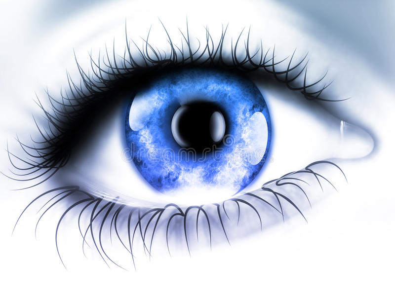Blue eye. In macro - computer generated for your projects royalty free illustration