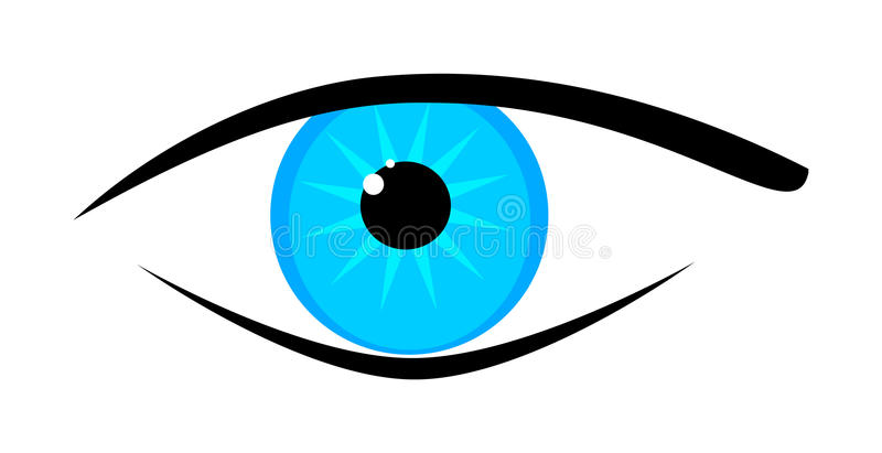 Download Blue eye stock vector. Image of copy, clip, bright, lens - 15916763