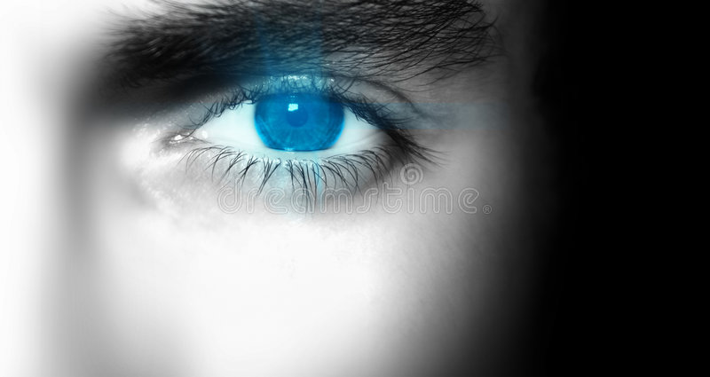 Download Blue Eye stock photo. Image of face, friendly, brow, dynamic - 2043718