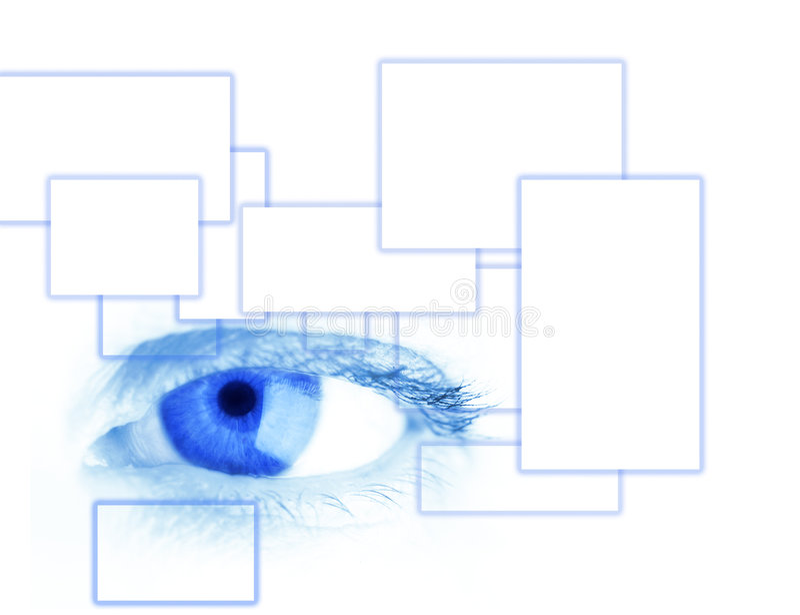 Blue eye vector illustration