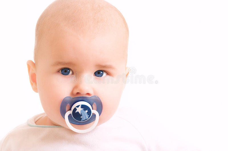 Blue eye baby. Portrait of baby with blue eyes. great choice for advertising royalty free stock photos