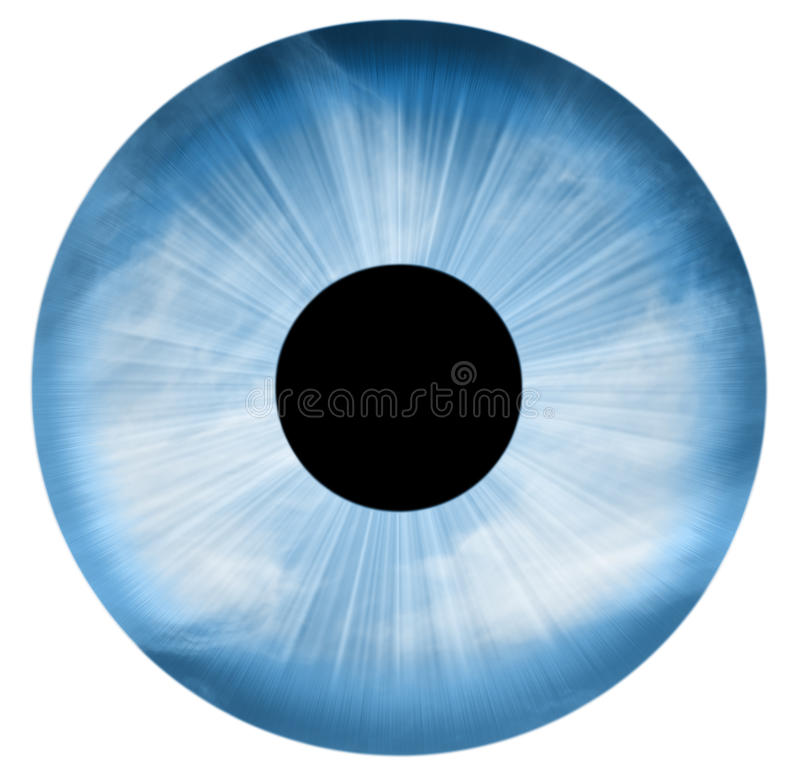 Blue eye isolated royalty free illustration