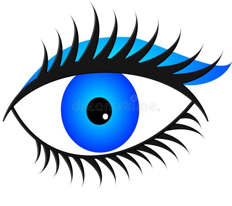 Download Blue eye light stock illustration. Illustration of makeup - 32337449
