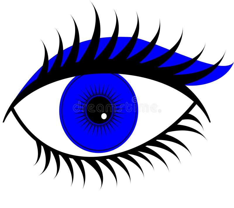 Download Blue eye stock illustration. Image of digital, iris, part - 32336990