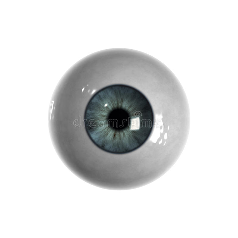 Download Blue Eyeball With Almost No Veins Visible Stock Illustration - Illustration of iris, retina: 9589854