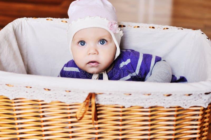Blue eyed baby stock photos