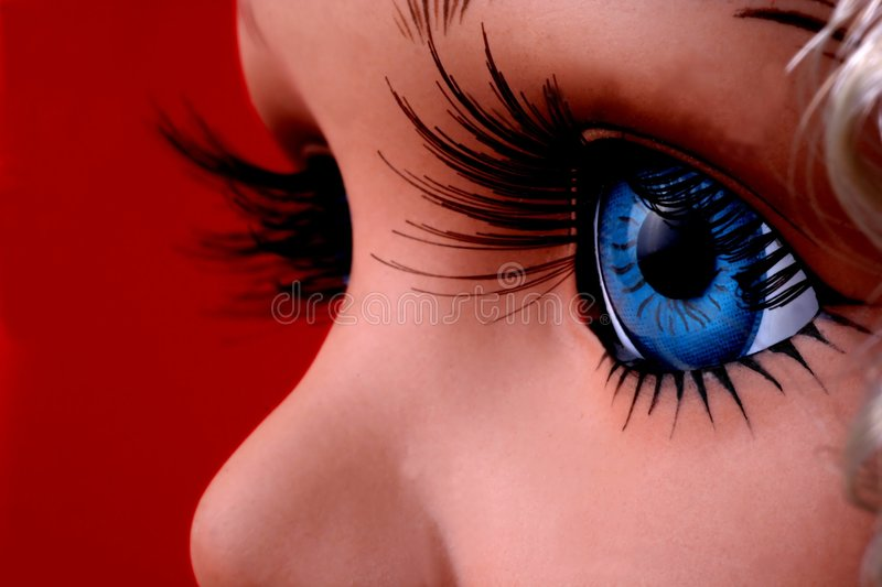 Blue Eyed Doll Stock Photo