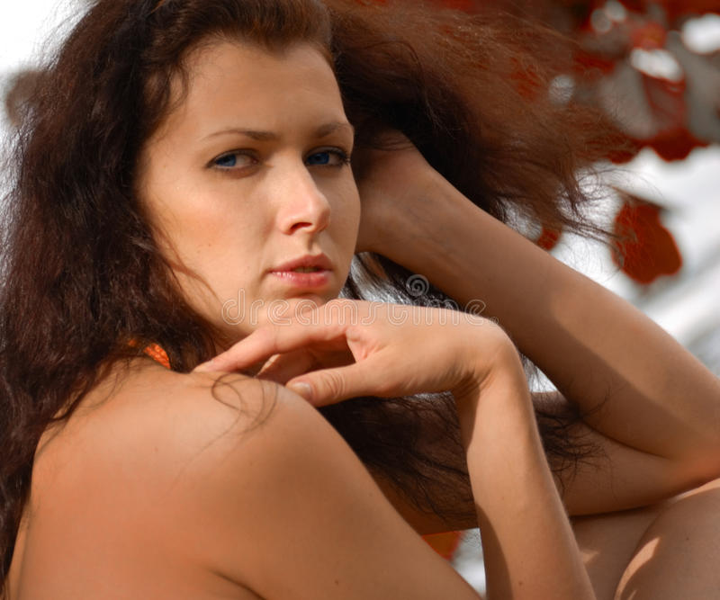 Download Blue-eyed girl stock photo. Image of gorgeous, girl, haired - 10161974