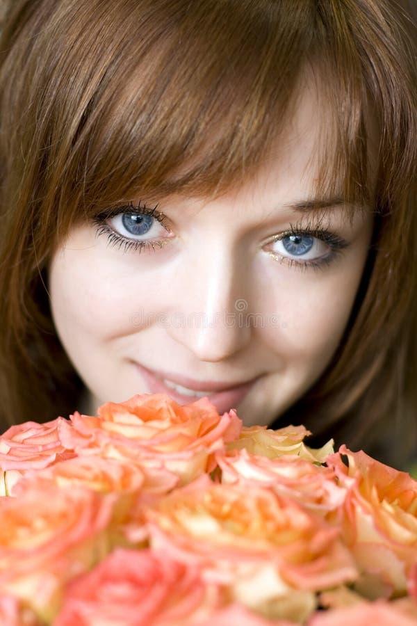 Blue-eyed Girl Stock Images