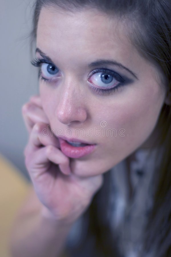 Blue Eyed Woman stock image