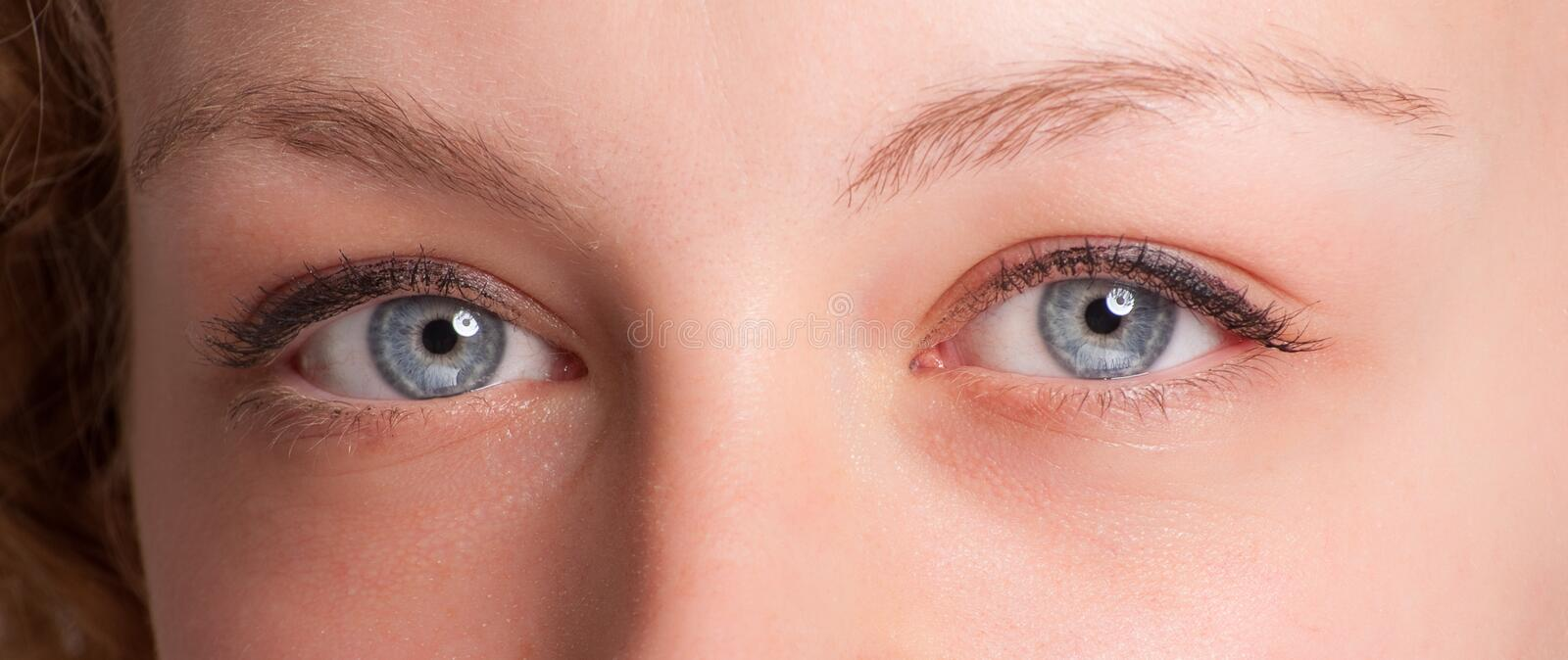 Download Blue eyes stock photo. Image of optic, blond, iris, looking - 14225872
