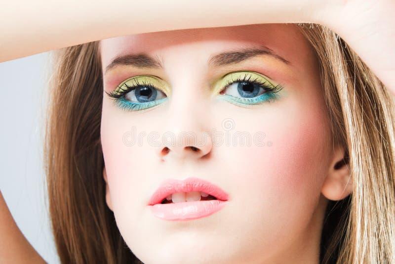 Blue eyes royalty free stock photos