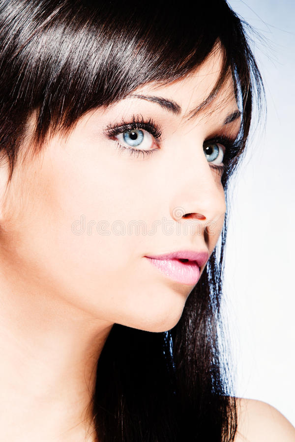 Download Blue eyes stock photo. Image of woman, lips, teen, shiny - 24318258