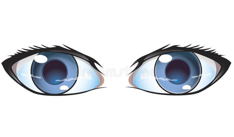 Blue eyes royalty free illustration