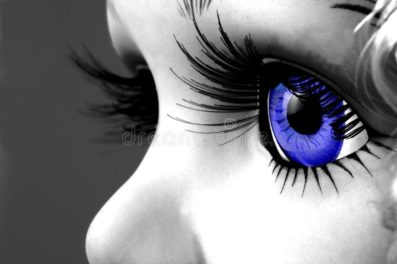 Blue eyes royalty free stock photography