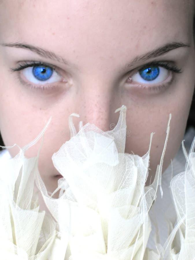 Blue eyes. Focus on eyes