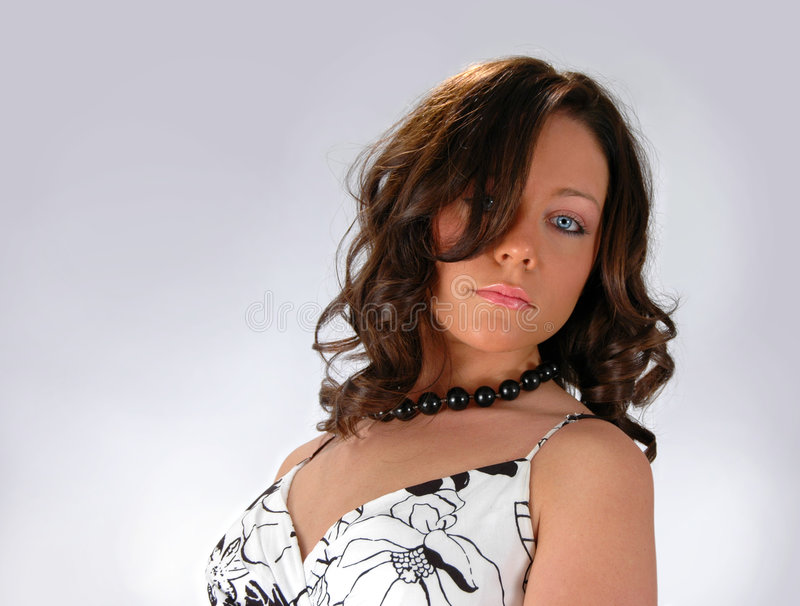 blue eyes girl arkivbild