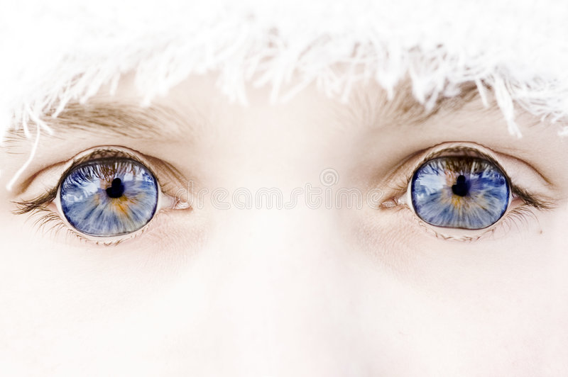 Blue eyes outside royalty free stock photos