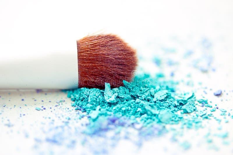 Download Blue Eyeshadow Make-up & Brush With Shallow Dof Stock Photo - Image: 24516898