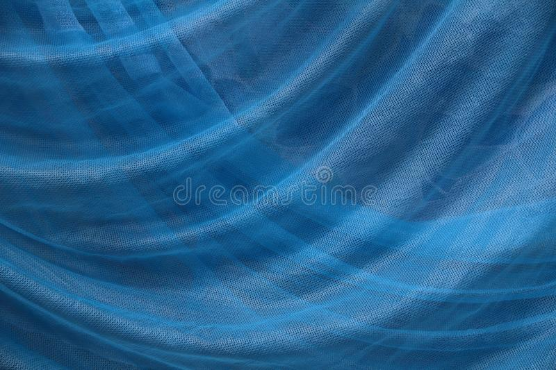 Blue fabric background texture, Detail of textile material close up. royalty free stock images