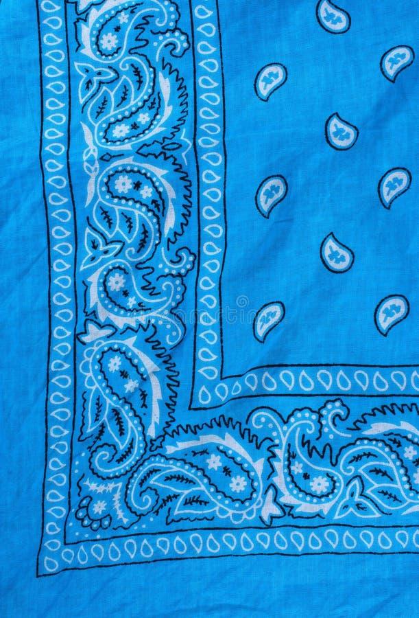 Blue fabric, bandana royalty free stock images