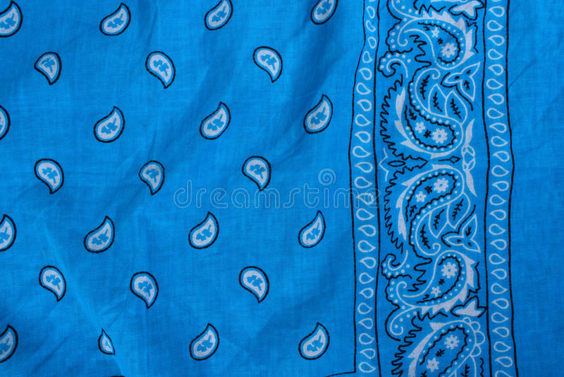 Blue fabric, bandana stock photo