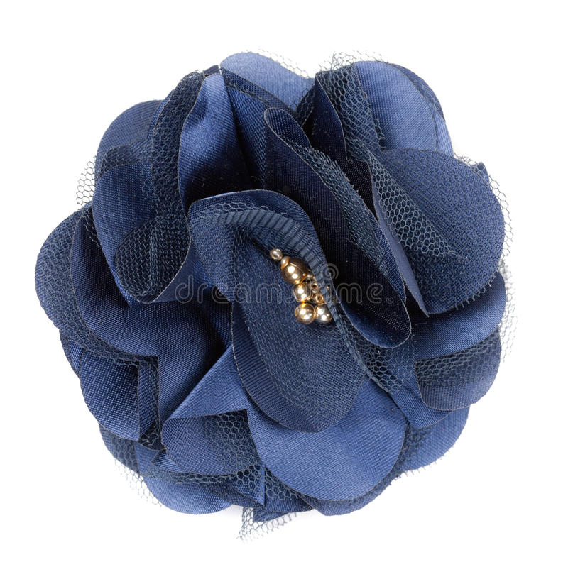 Blue Fabric Flower Royalty Free Stock Image