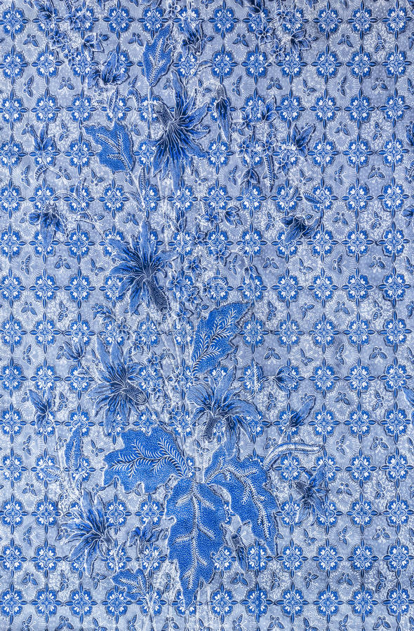 Download Blue fabric pattern stock photo. Image of leaf, omament - 39508002