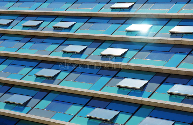 Download Blue Facade stock photo. Image of hotel, glass, finance - 19701016
